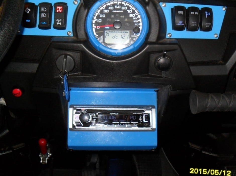 Rzr In Dash Stereo Plate Made In Usa Sxsinnovations